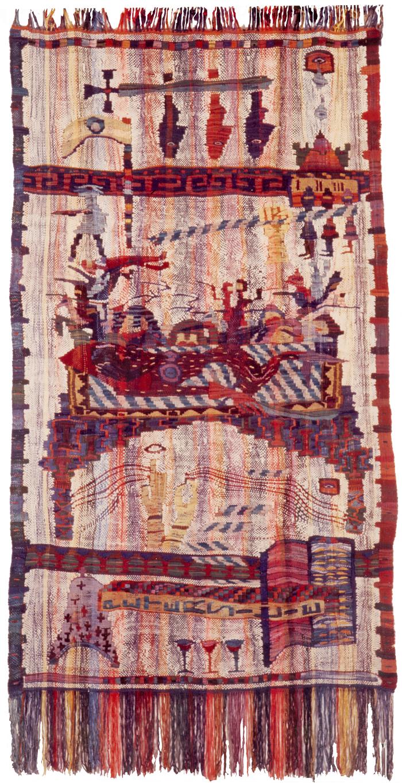 Eroberungstuch, 1992, Wolle auf Wolle, 230 x 132 cm