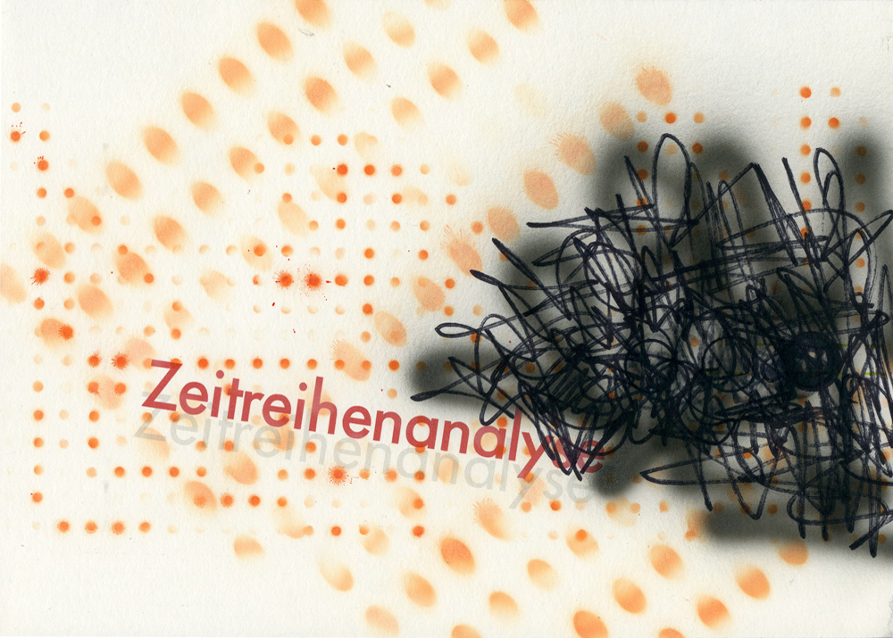 Zeitreihenanalyse, 2015, Mixed Media, 21 x 29,7 cm