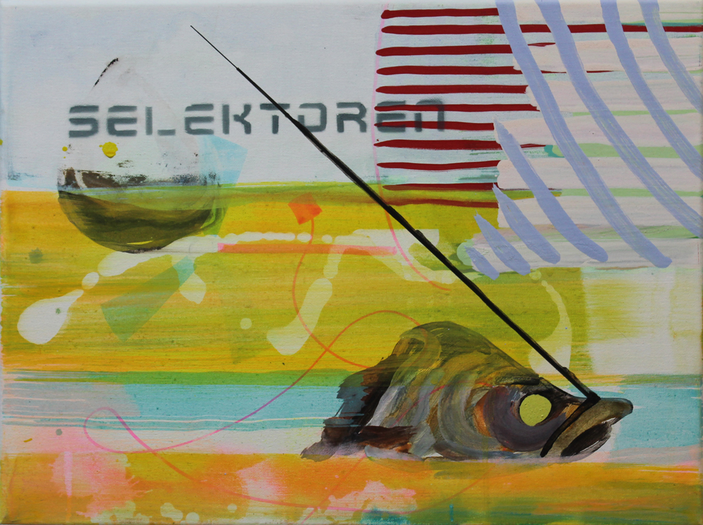 Selektor III, 2016, Öl auf Nessel, 30 cm x 40 cm