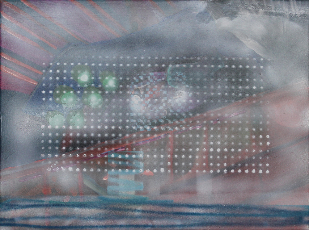 Selektor VI, 2016, Öl auf Nessel, 30 cm x 40 cm