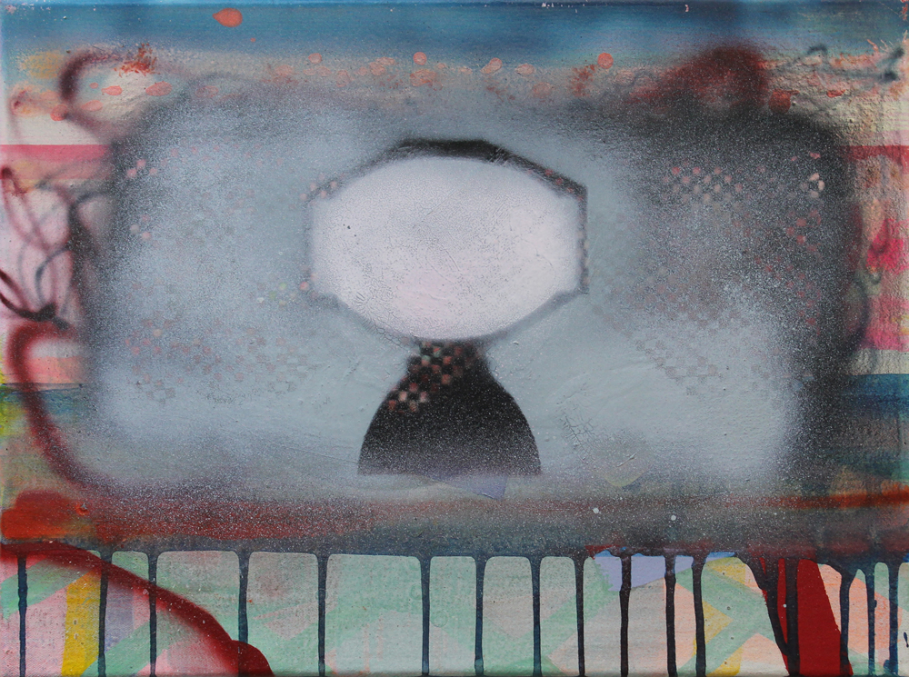 Token I, 2016, Öl auf Nessel, 30 cm x 40 cm