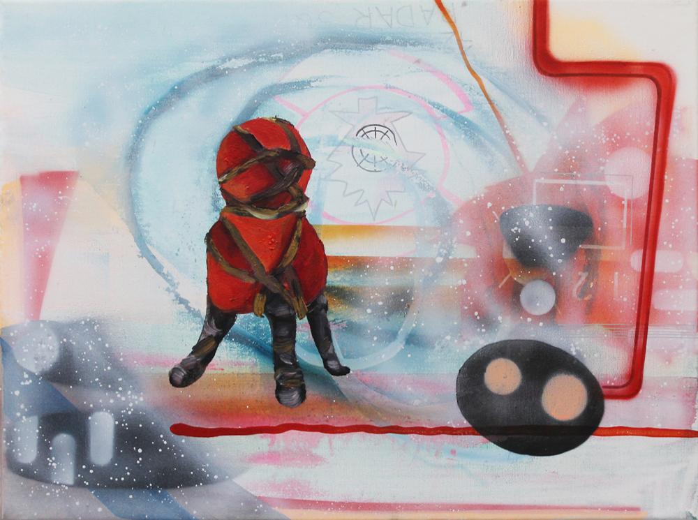 Token II, 2016, Öl auf Nessel, 30 cm x 40 cm