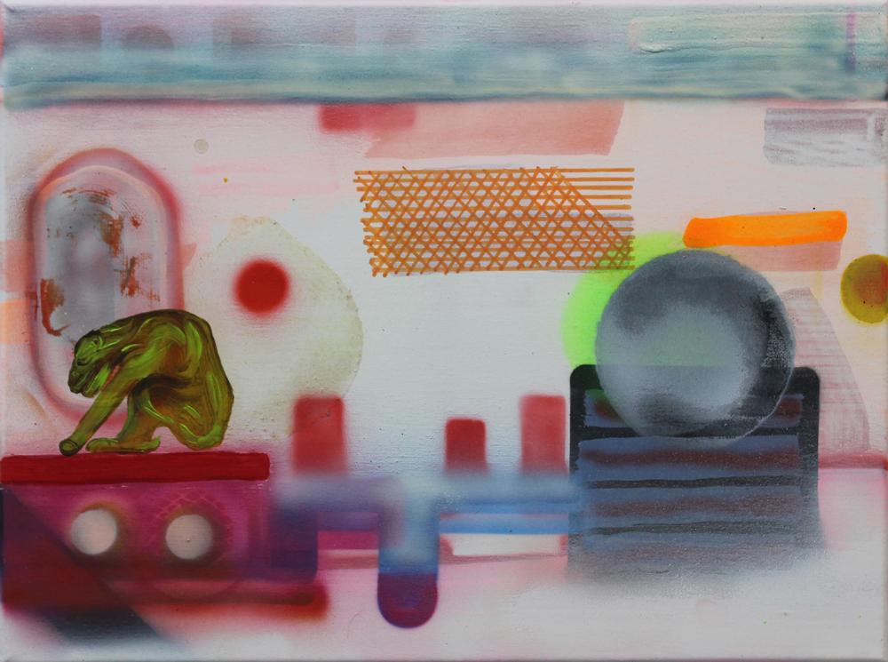 Token III, 2016, Öl auf Nessel, 30 cm x 40 cm