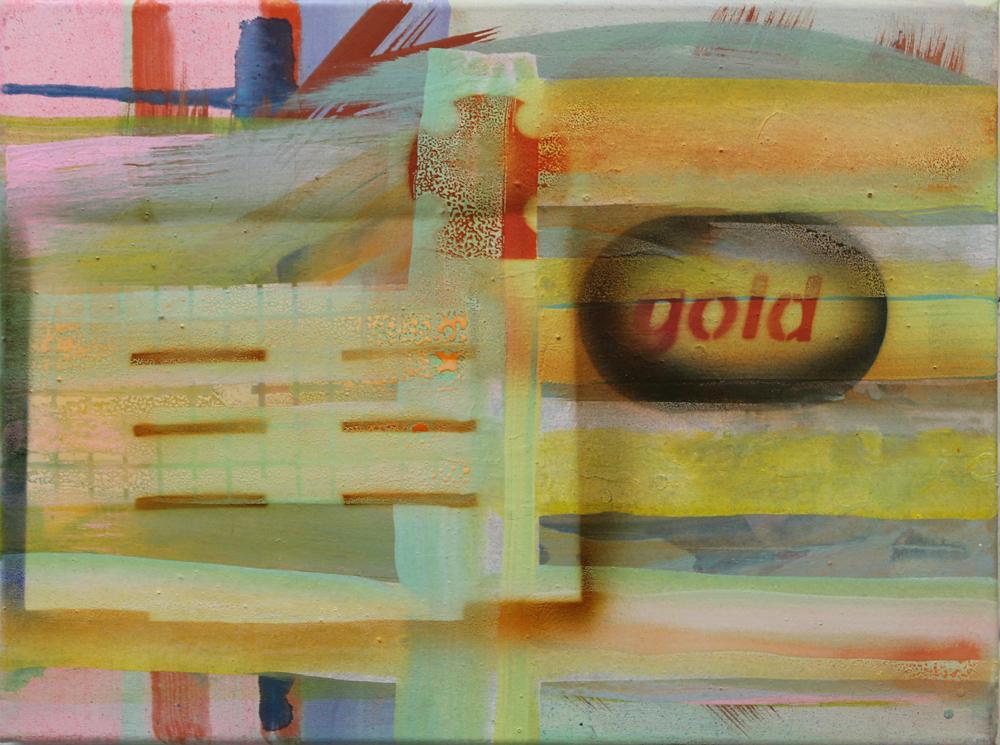 Token V, 2016, Öl auf Nessel, 30 cm x 40 cm