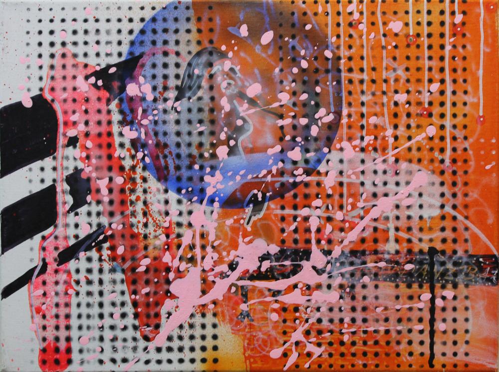 Token VII, 2016, Öl auf Nessel, 30 cm x 40 cm