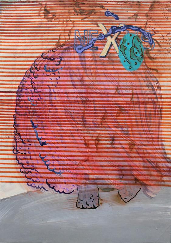 NEXUS III, 2018, Mischtechnik auf Papier, 34,8 cm x 24,5 cm