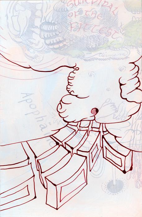 Apophänie, 2020, Mischtechnik auf Papier, 24,5 cm x 16cm