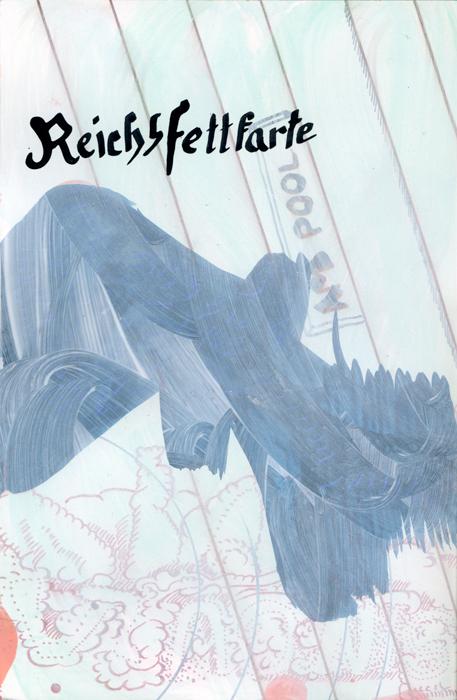 Reichsfettkarte, 2020, Mischtechnik auf Papier, 24,5 cm x 16cm