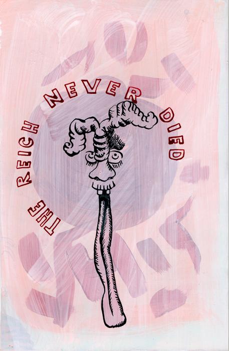 The Reich Never Died, 2020, Mischtechnik auf Papier, 24,5 cm x 16cm