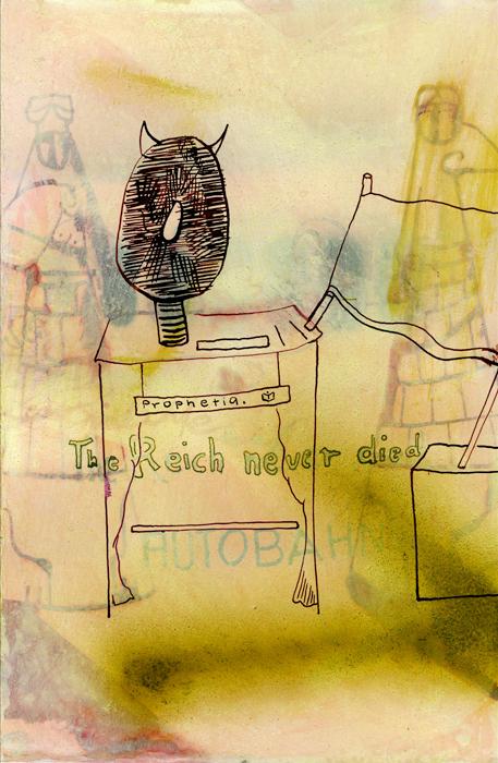 Prophetia, 2021, Mischtechnik auf Papier, 24,5 cm x 16cm