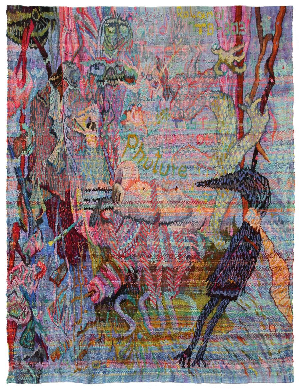 Nänie, 2015, Wolle auf Wolle, 220 x 165 cm